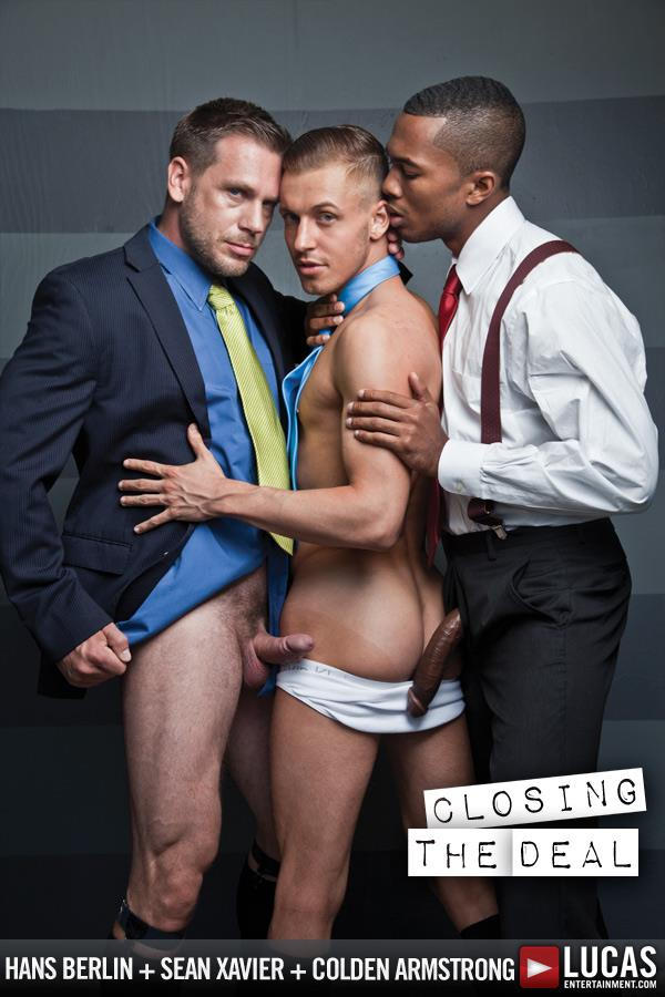 Lucas Entertainment Sean Xavier and Hans Berlin and Colden Armstrong Interracial Gay Orgy Amateur Gay Porn 02 Going For A Job Interview And Taking 2 Huge Cocks Up The Ass