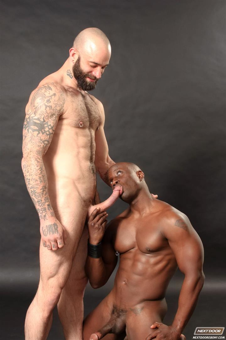 Next-Door-Ebony-Sam-Swift-and-Jay-Black-Interracial-White-Guy-Fucking-A-Black-Guy-Amateur-Gay-Porn-13 Hung Amateur Black Guy Takes A Big White Cock Up His Tight Ass