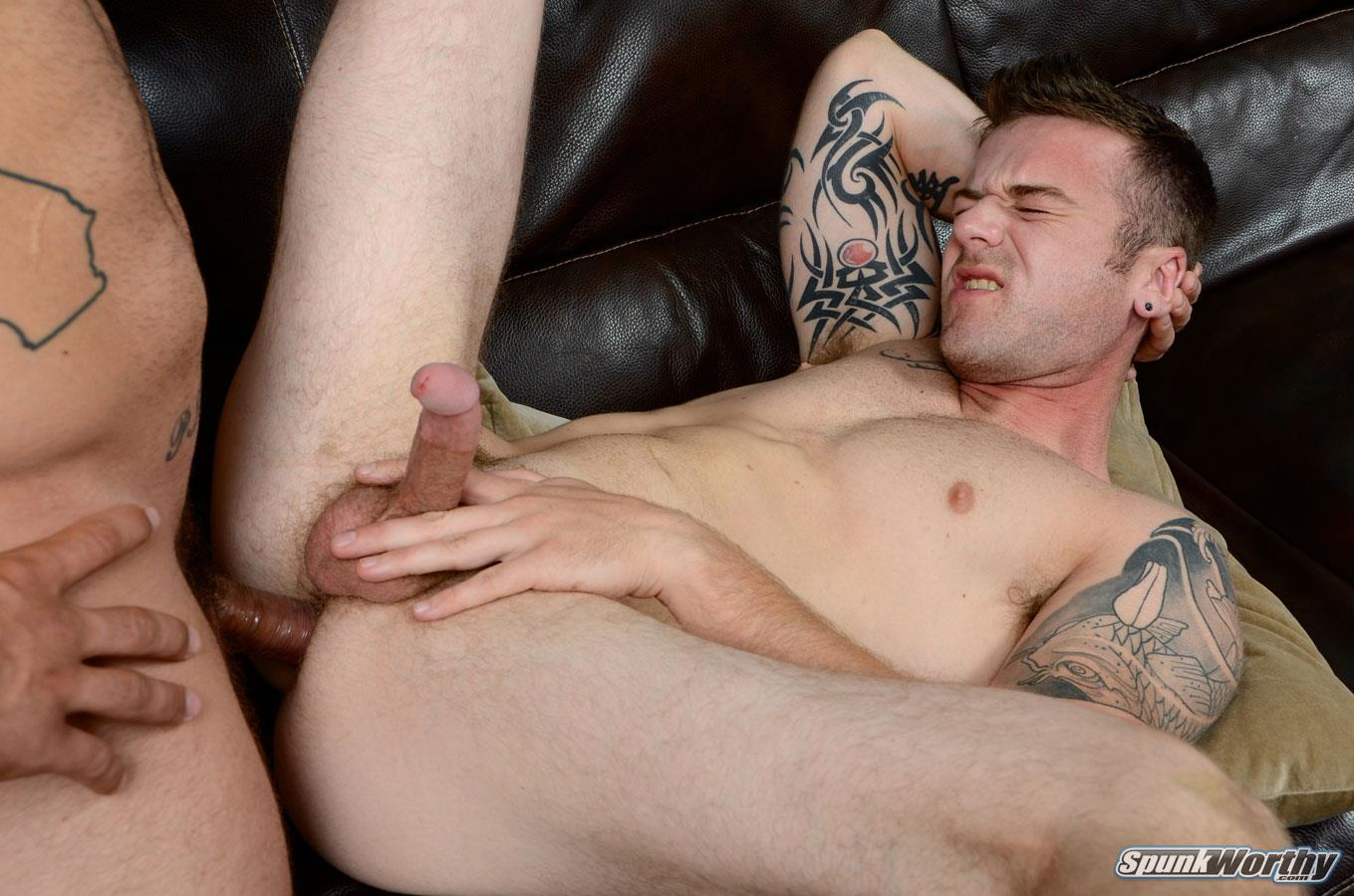 Gay anal double penetration video