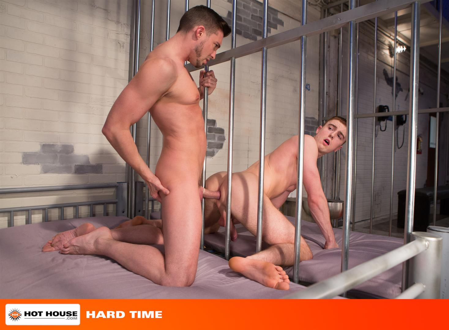 prison porno Sensual  blonde with black stockings caught in prison gang bang.