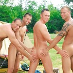 Visconti Triplets Jason Visconti Jimmy Visconti Joey Visconti Giuseppe Pardi Fucking During A Camping Trip Amateur Gay Porn 04 150x150 Visconti Triplets Tag Team Some Muscle Ass While Camping