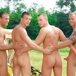 Visconti Triplets Jason Visconti Jimmy Visconti Joey Visconti Giuseppe Pardi Fucking During A Camping Trip Amateur Gay Porn 06 150x150 Visconti Triplets Tag Team Some Muscle Ass While Camping