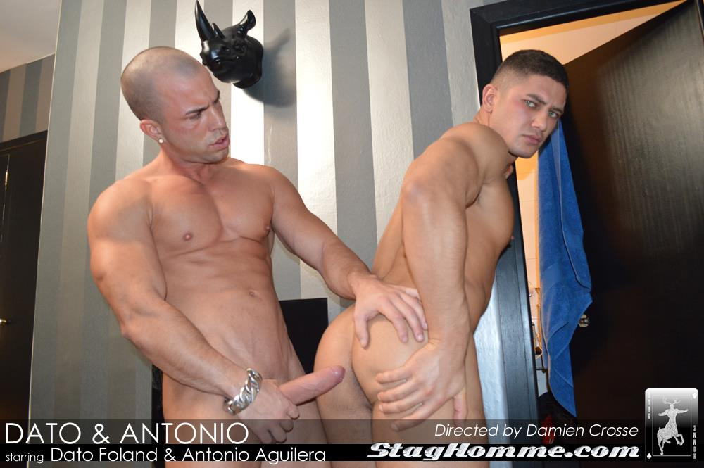 StagHomme Studios Dato Foland and Antonio Aguilera Muscle Hunks With Huge Uncut Cocks Fucking Amateur Gay Porn 12 Dato Foland & Antonio Aguilera Masculine Muscle Hunks Fucking
