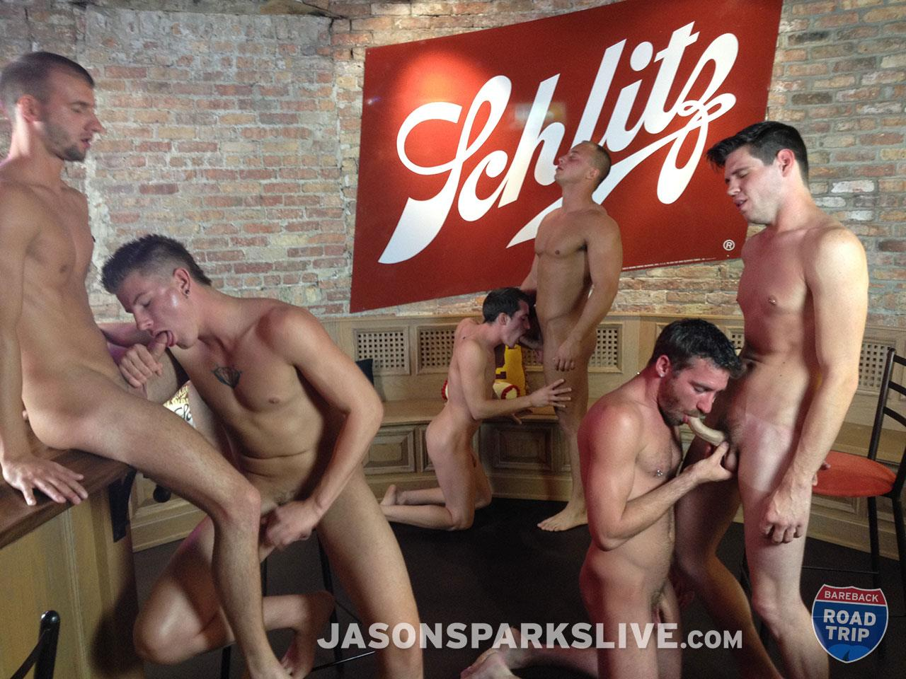 Jason-Sparks-Live-Dustin-Tyler-Shawn-Andrews-Brendon-Scott-Corbin-Riley-Antonio-Paul-Jake-Matthews-Bareback-Orgy-Amateur-Gay-Porn-06 Big Cock Amateur Bareback Orgy in Milwaukee