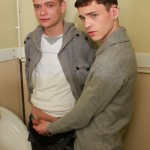 EuroboyXXX Aaron and Owen Twinks Barebacking In A Bathroom With Big Uncut Cocks Amateur Gay Porn 03 150x150 Twinks With Big Uncut Cocks Barebacking In A Dirty Public Bathroom