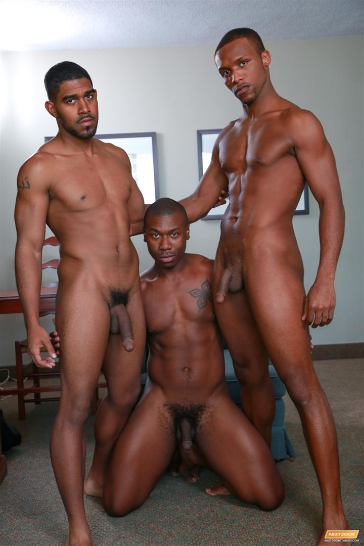 Next Door Ebony Damian Brooks and XL and Andre Donovan Black Naked Men Fucking Amateur Gay Porn 11 Three Naked Black Men, Three Big Black Cocks, One Juicy Booty