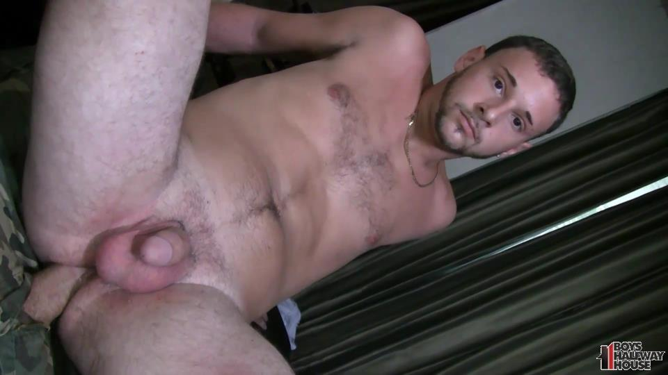 Boys-Halfway-House-Aaron-Straight-Guy-Getting-Fucked-Bareback-Amateur-Gay-Porn-22 Delinquent Straight Boy Forced Into Bareback Sex And Cum Eating