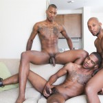 Next Door Ebony Ramsees and King B and Staxx Big Black Cock Group Sex Amateur Gay Porn 06 150x150 King B Takes Two Big Black Cocks Up The Ass For His Birthday
