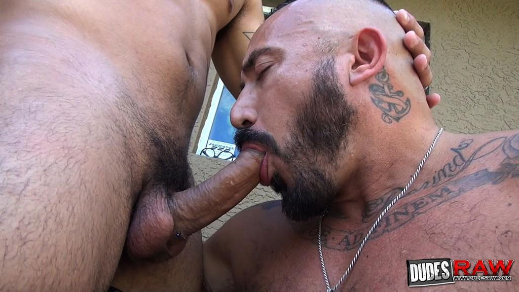 Dudes-Raw-Alessio-Romero-and-Mario-Cruz-Bareback-Muscle-Daddy-Latino-Amateur-Gay-Porn-10 Muscle Daddy Alessio Romero Gets Bred By Mario Cruz