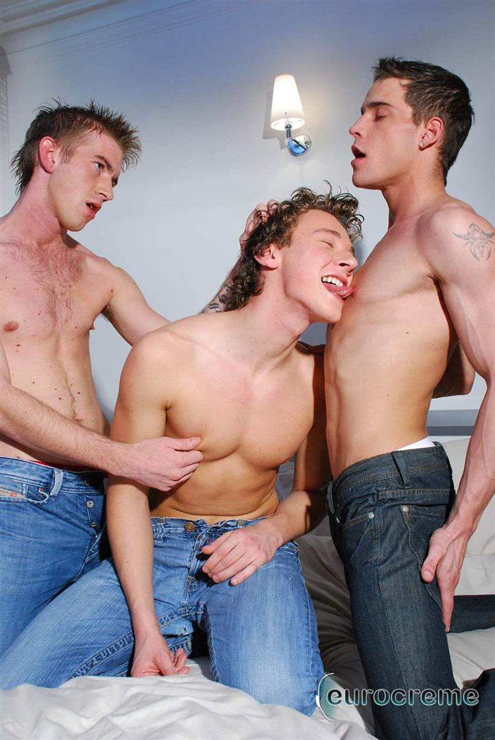 Eurocreme-Matt-Hughes-and-Alex-Stevens-and-Philipe-Delvaux-Twinks-Fucking-Amateur-Gay-Porn-03 Matt Hughes Uses His 11-Inch Uncut Cock On Two Tricks