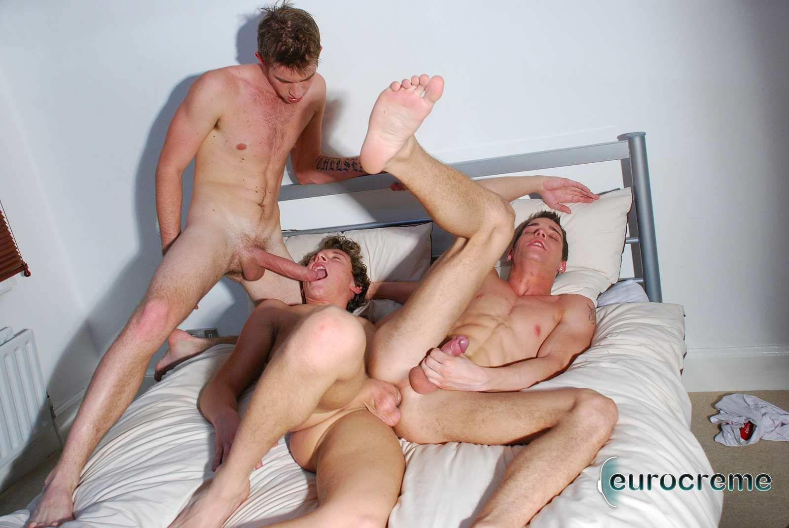 Eurocreme Matt Hughes and Alex Stevens and Philipe Delvaux Twinks Fucking Amateur Gay Porn 16 Matt Hughes Uses His 11 Inch Uncut Cock On Two Tricks