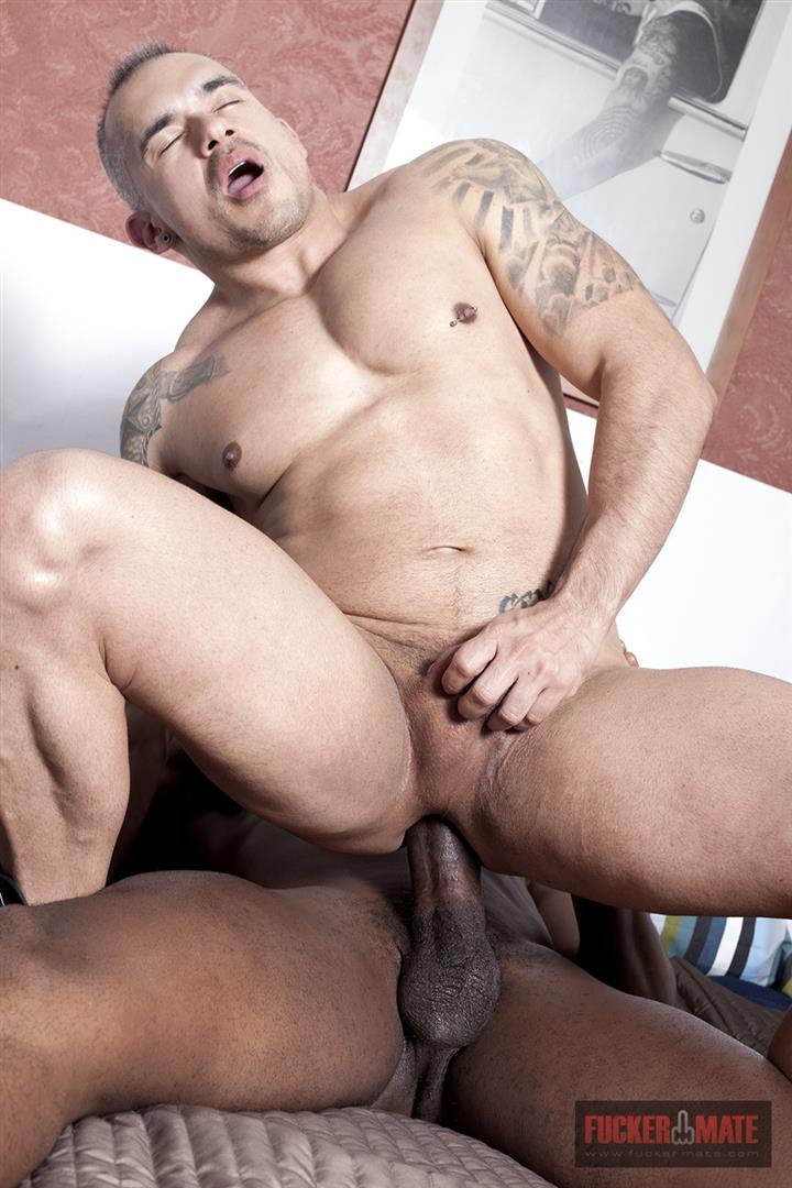 Fuckermate Titan and Santi Noguera Big Black Dick Barebacking Muscle Bottom Amateur Gay Porn 8 Big Black Horse Cock Aggressively Fucks A White Muscle Bottom