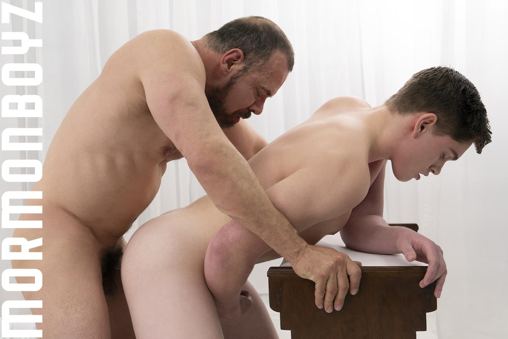 Mormon-Boyz-President-Ballard-and-Elder-Edwards-Thick-Dick-Daddy-Barebacking-Boy-Gay-Sex-10 Thick Dick Mormon Daddy Bareback Fucks A Young Mormon Missionary